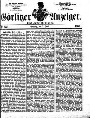 Görlitzer Anzeiger vom 07.06.1868