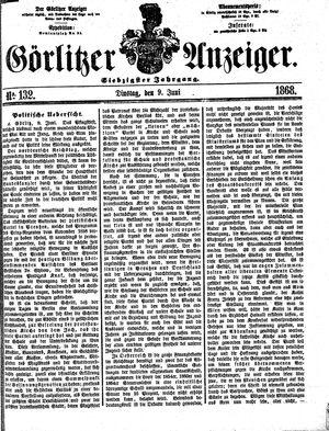 Görlitzer Anzeiger vom 09.06.1868