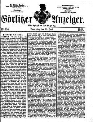 Görlitzer Anzeiger vom 11.06.1868
