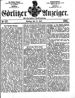 Görlitzer Anzeiger vom 14.06.1868