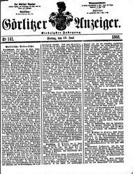 Görlitzer Anzeiger (19.06.1868)