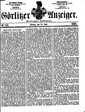 Görlitzer Anzeiger vom 19.06.1868