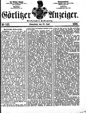 Görlitzer Anzeiger vom 20.06.1868