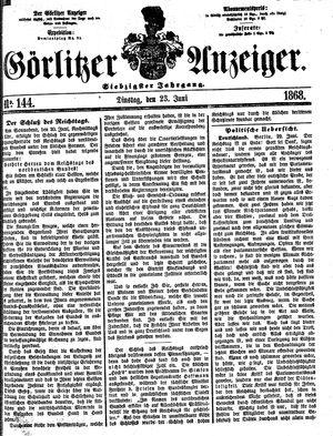 Görlitzer Anzeiger vom 23.06.1868