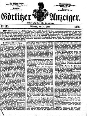 Görlitzer Anzeiger vom 24.06.1868