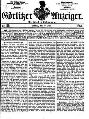 Görlitzer Anzeiger vom 28.06.1868