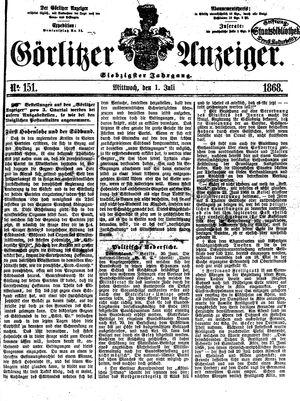 Görlitzer Anzeiger vom 01.07.1868
