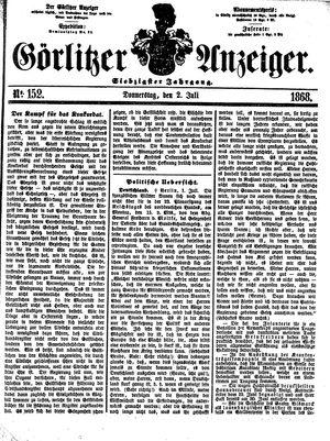 Görlitzer Anzeiger vom 02.07.1868