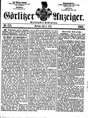 Görlitzer Anzeiger vom 03.07.1868