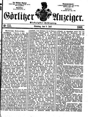 Görlitzer Anzeiger vom 05.07.1868