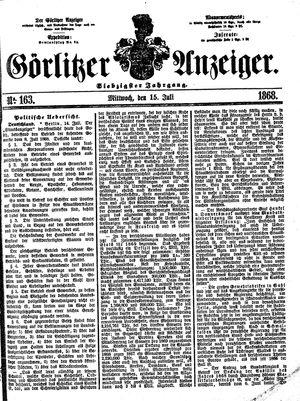 Görlitzer Anzeiger vom 15.07.1868