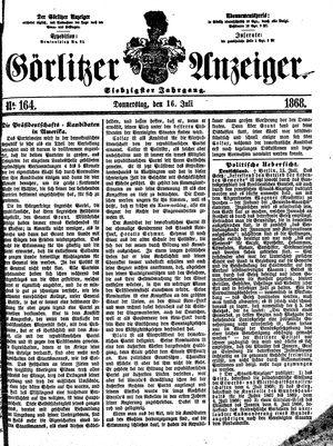 Görlitzer Anzeiger vom 16.07.1868