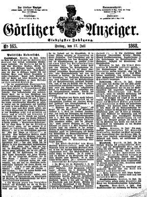 Görlitzer Anzeiger vom 17.07.1868