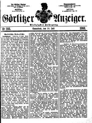 Görlitzer Anzeiger on Jul 18, 1868