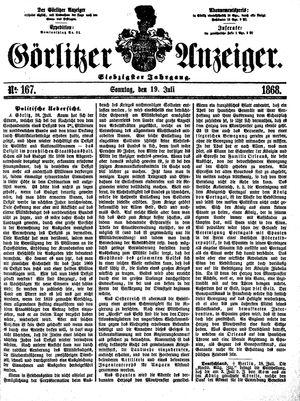 Görlitzer Anzeiger on Jul 19, 1868