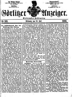 Görlitzer Anzeiger vom 22.07.1868