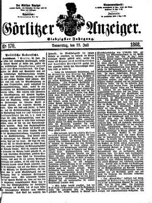 Görlitzer Anzeiger on Jul 23, 1868
