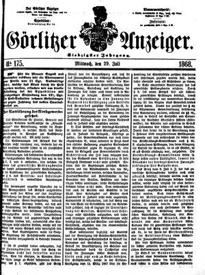 Görlitzer Anzeiger on Jul 29, 1868