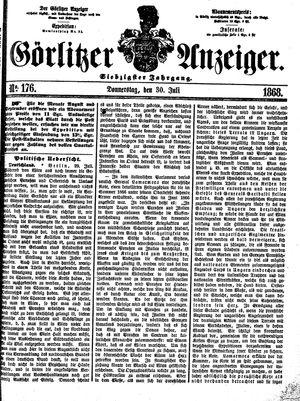 Görlitzer Anzeiger vom 30.07.1868