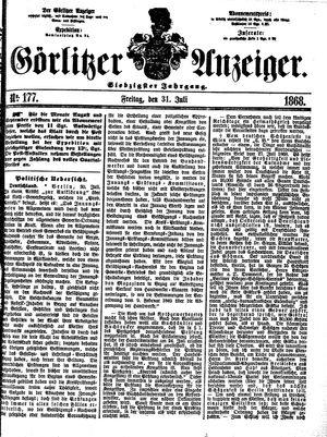 Görlitzer Anzeiger vom 31.07.1868