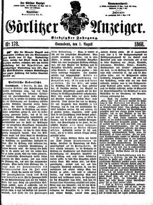 Görlitzer Anzeiger vom 01.08.1868