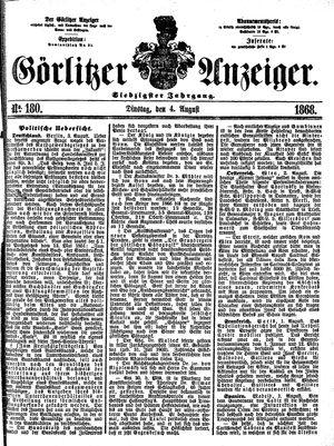 Görlitzer Anzeiger vom 04.08.1868