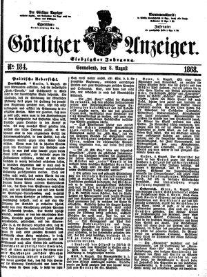 Görlitzer Anzeiger vom 08.08.1868