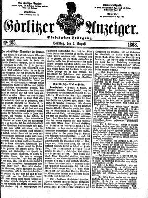 Görlitzer Anzeiger on Aug 9, 1868