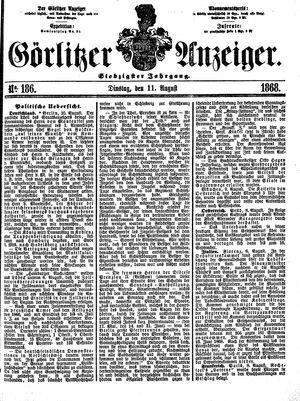 Görlitzer Anzeiger vom 11.08.1868