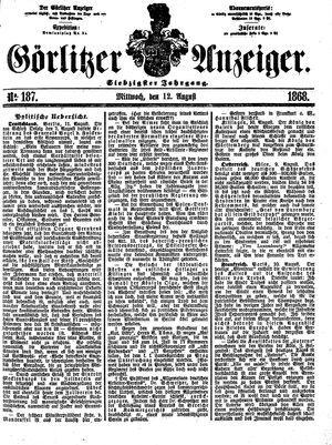 Görlitzer Anzeiger vom 12.08.1868