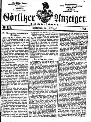 Görlitzer Anzeiger vom 13.08.1868