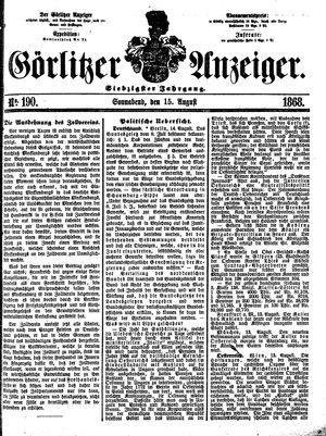 Görlitzer Anzeiger vom 15.08.1868