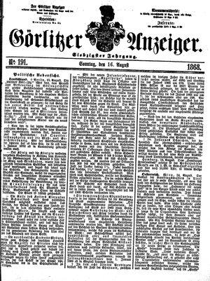 Görlitzer Anzeiger vom 16.08.1868