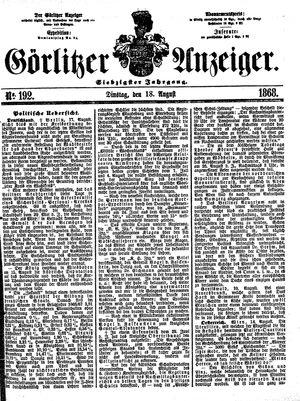 Görlitzer Anzeiger vom 18.08.1868
