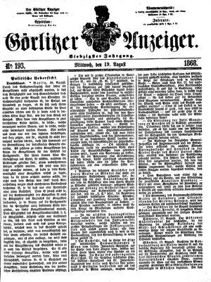 Görlitzer Anzeiger vom 19.08.1868