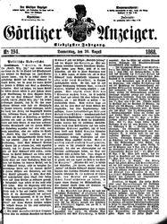 Görlitzer Anzeiger (20.08.1868)