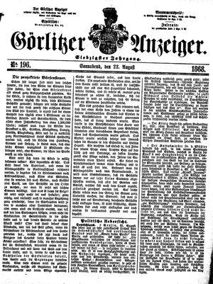 Görlitzer Anzeiger vom 22.08.1868