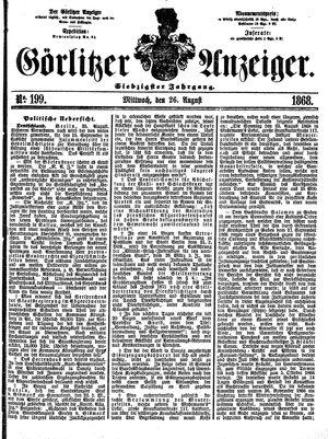 Görlitzer Anzeiger vom 26.08.1868