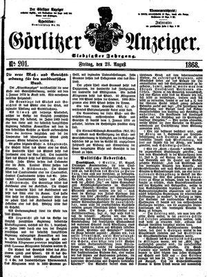 Görlitzer Anzeiger vom 28.08.1868