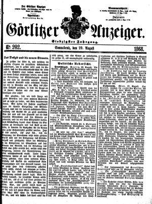 Görlitzer Anzeiger vom 29.08.1868