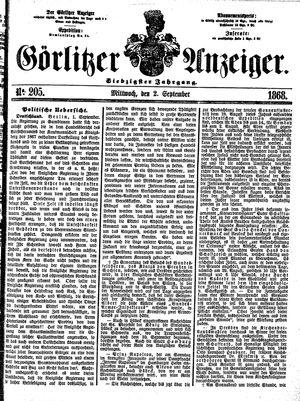 Görlitzer Anzeiger vom 02.09.1868