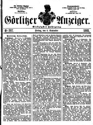Görlitzer Anzeiger vom 04.09.1868