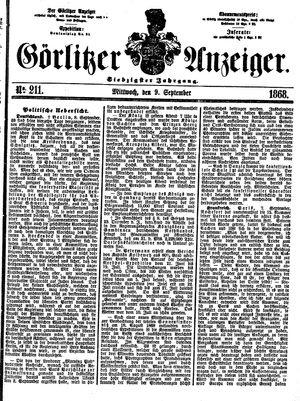 Görlitzer Anzeiger vom 09.09.1868
