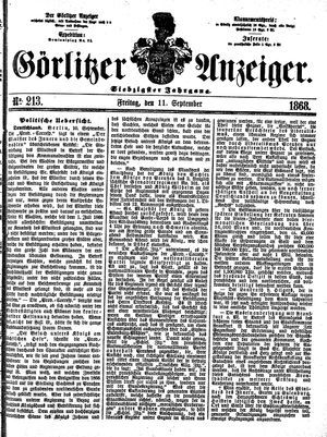 Görlitzer Anzeiger vom 11.09.1868