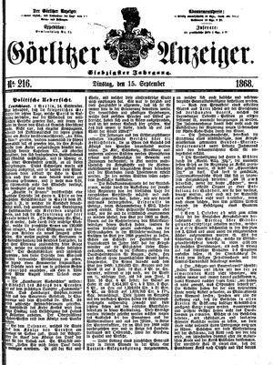 Görlitzer Anzeiger vom 15.09.1868
