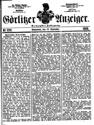 Görlitzer Anzeiger vom 19.09.1868