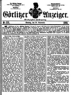 Görlitzer Anzeiger vom 20.09.1868