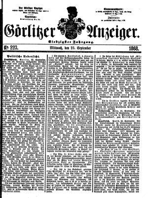 Görlitzer Anzeiger vom 23.09.1868