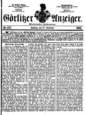 Görlitzer Anzeiger on Sep 27, 1868