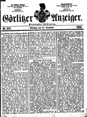 Görlitzer Anzeiger vom 30.09.1868